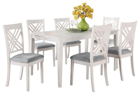 standard furniture white rectangular dining table