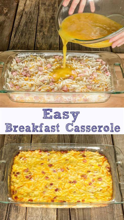 breakfast casserole easy easy breakfast casserole recipe