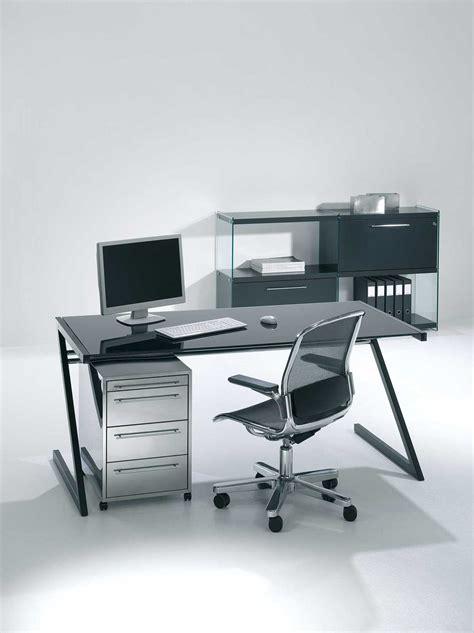 bureau en acier bureau professionnel design en verre et acier zeolith