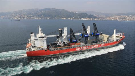 Hansa Heavy Lift Vessel Sails Open Hatch