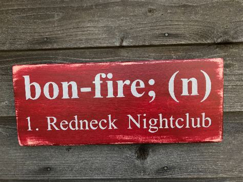 hand painted wood sign porch sign funny sign bonfire