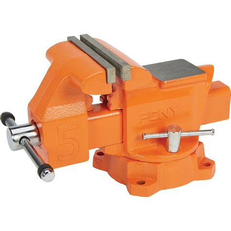 pony industrial bench vise  jaw opening automotive