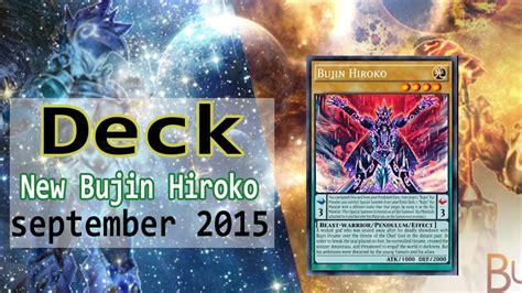 Yugioh Deck Tiers September 2015 by Yu Gi Oh Bujin Hiroko New Supor Deck Profile September