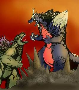 Godzilla vs spacegodzilla by Jazon19 on DeviantArt