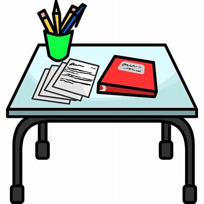 Desk Clipart Penguin Club Transparent Writing Fandom