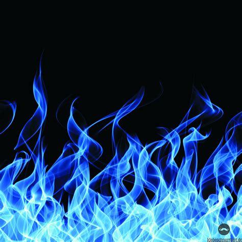 Feuer Blau - Klebeschnurrbart