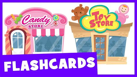 Learn Places To Shop  Talking Flashcards Youtube
