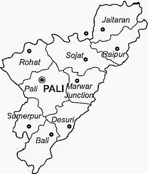 pali district guide map rajasthan pali district tourism