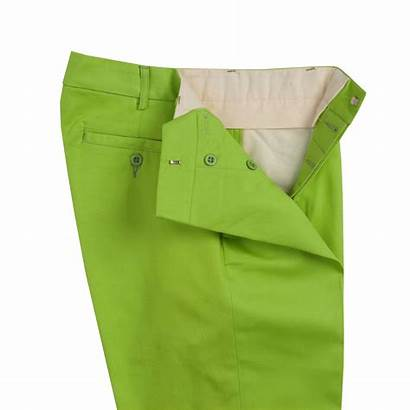 Trousers Chino Fly Bright Lime Button Cordings