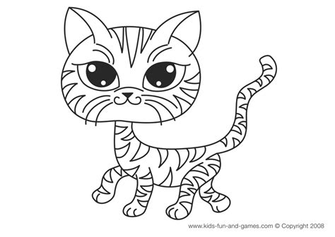 cat pictures to color kitten coloring pages free for your house