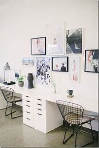 Beautiful, Simple, Gallery, Wall, And, Easy, Double, Two, Person, Desk