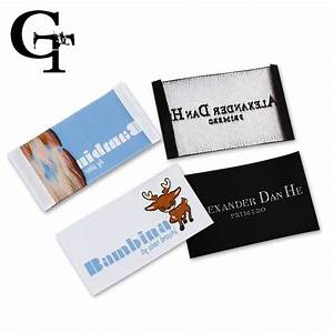 aliexpresscom buy custom logo brand name woven clothing With clothing label stickers