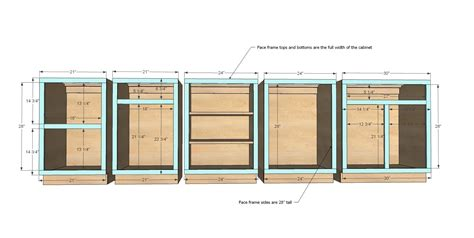 how to make cabinet faces ana white build a face frame base kitchen cabinet