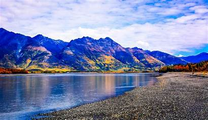 Alaska Mountain Landscape River Iphone Nature Autumn