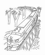 Coloring Train Pages Polar Express Bridge Sheets Trains Diesel Printable Tram Engine Colouring Lego Clipart Railroad Passing History Rice Boy sketch template
