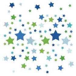 kinderzimmer jungen ideen dinki balloon kinderzimmer wandsticker sterne blau grün 68 teilig bei fantasyroom kaufen
