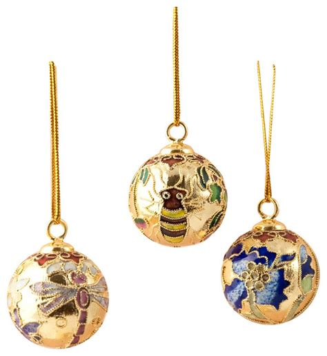12 cloisonne bell ornament cloisonne ball ornament 12 piece set small traditional christmas ornaments by value arts