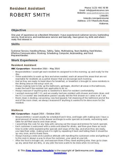 college resident assistant cover letter sample  cover
