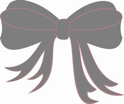 Bow Ribbon Gray Clip Clipart Vector Clker