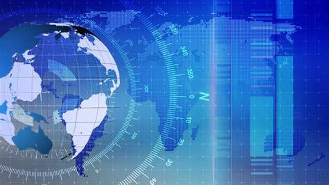 Broadcast World News Map Data Graphic 07 Stock Video ...