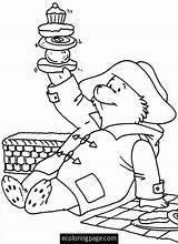 Paddington Coloring Picnic Bear Sheets Template Malvorlagen Ausmalen Cartoni Printable Trickfilmfiguren Comic Disegno Teddybaeren Kinderfarben Erwachsene Picknicks Teddybaer Silhouetten Malboegen sketch template
