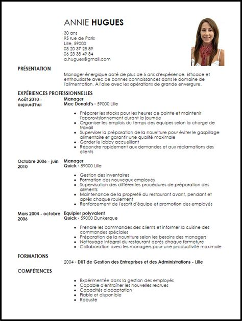 competence cuisine collective exemple cv manager d 39 équipe livecareer