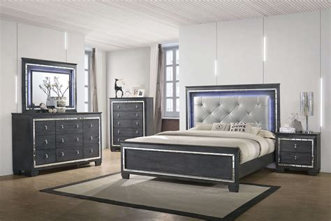 Perina LED Bedroom Set  Bedroom Furniture Sets