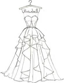 Easy Wedding Dress Coloring Pages