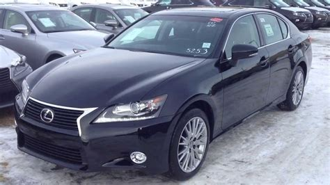 obsidian color 2014 lexus gs 350 awd technology package review in