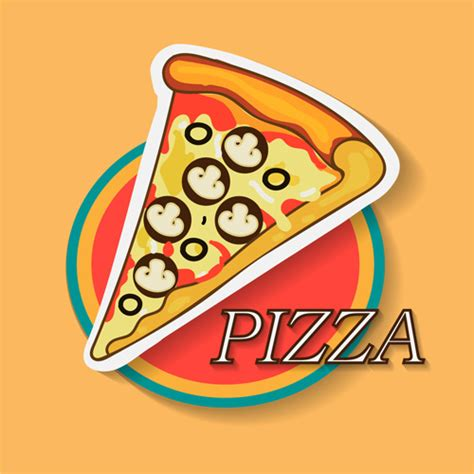 logo pizza illustrator  vector