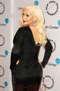 sleeve wrap dress aguilera in versace at the quot sinatra voice for a