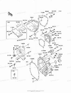 Kawasaki Motorcycle 2003 Oem Parts Diagram For Engine