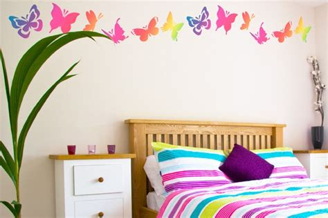 wall decor ideas for girls bedrooms with butterfly