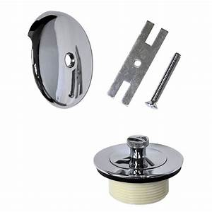 Universal Lift And Turn Tub Drain Trim Kit With Overflow