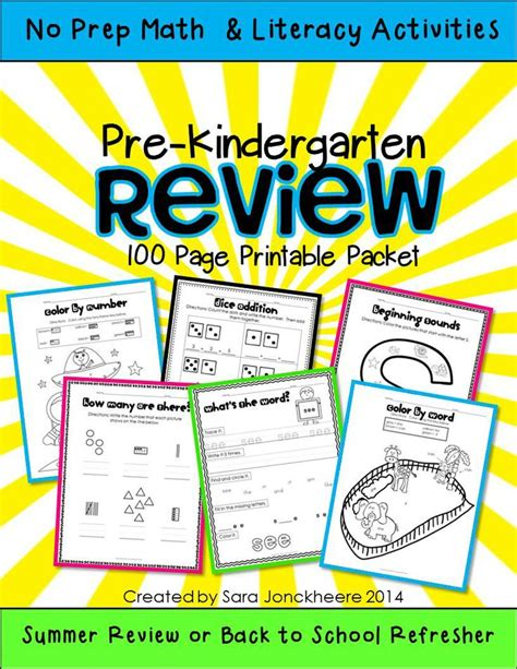 Summer Review (prek