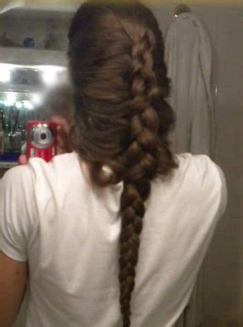 rare photograph   loose dutch hairstyle  long hair