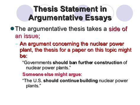 persuasive essay thesis statement examples argumentative essay