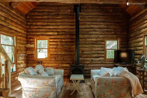 lakefront log cabin rental  adirondack park