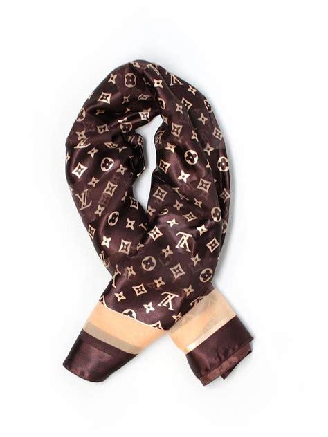 louis vuitton brown monogram silk scarfwrap tradesy