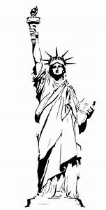 statue of liberty drawing outline clipart clipartingcom With statue of liberty drawing template