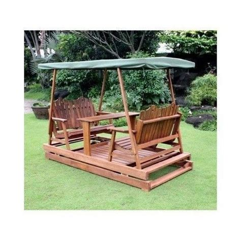 garden glider deluxe wooden patio swing canopy