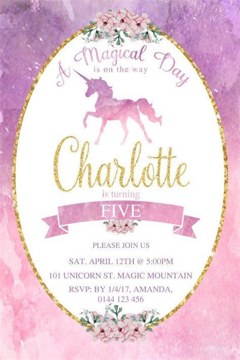 st birthday invitation rainbow unicorn