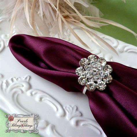 rhinestone napkin ring holders wedding by