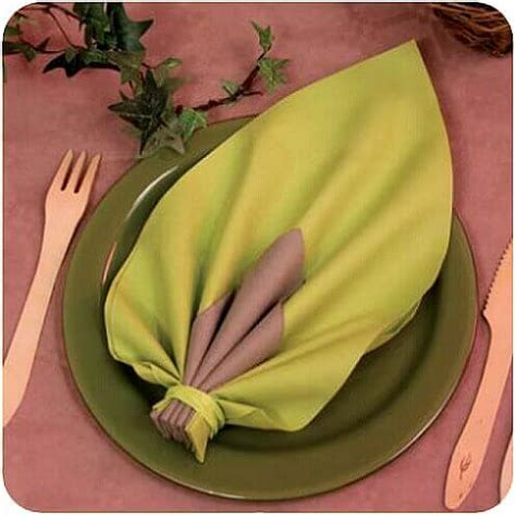 notice de montage du pliage de serviette feuille