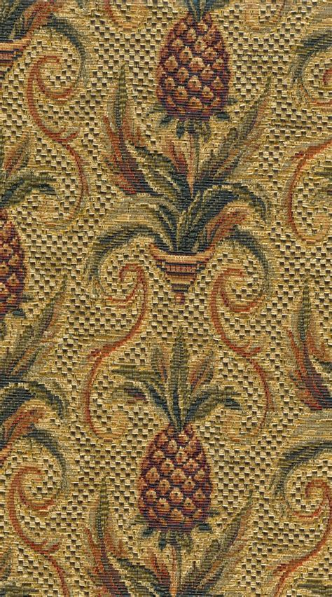 Tapestry Material Upholstery by Pineapple Tapestry Fabric 1 Yard