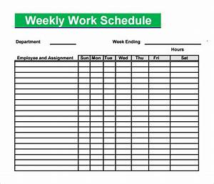 blank schedule template 6 download free documents in pdf With sample of work schedule template