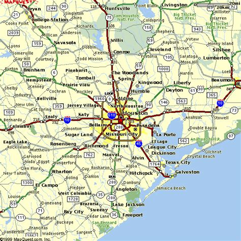 map  houston travelsmapscom