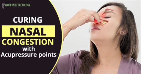 curing nasal congestion  acupressure points