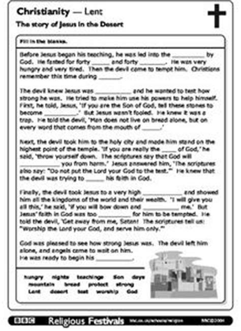 christianity lent  story  jesus   desert