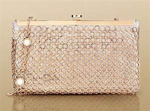 Pochette Rose Gold : evening pochette in light grey satin and rose gold metal mesh and hardware by bulgari my style ~ Teatrodelosmanantiales.com Idées de Décoration